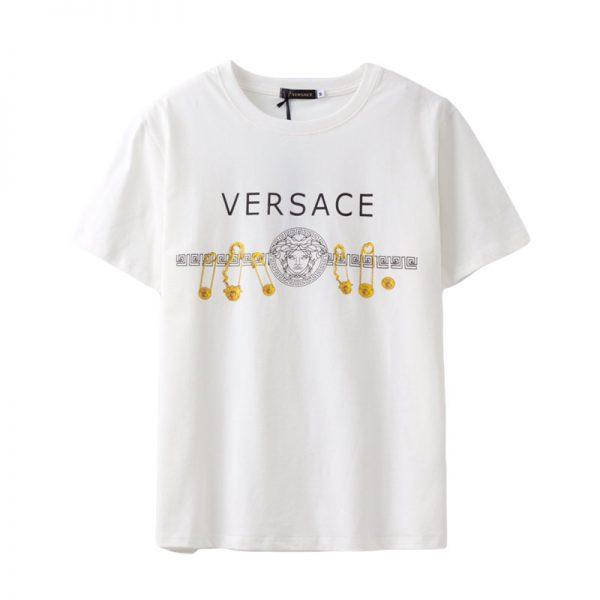 Versace Gold Pins White Tee